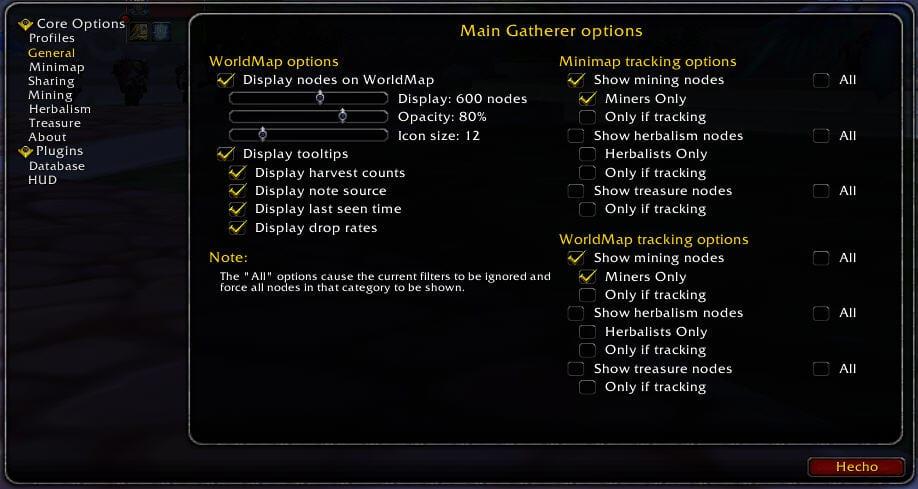 gatherer-options-general