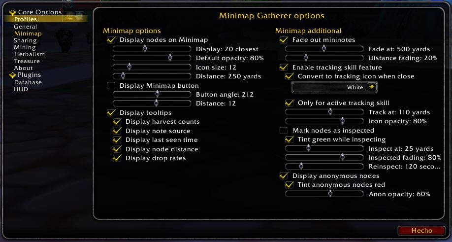 gatherer-options-minimap