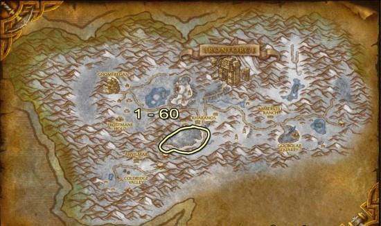 Dun Morogh Skinning map