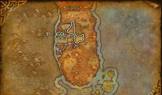 Durotar Skinning map