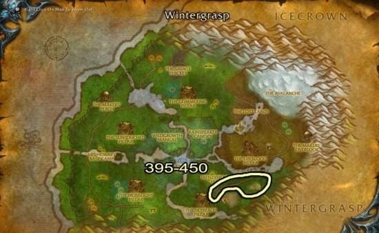 Cuenca de Sholazar map