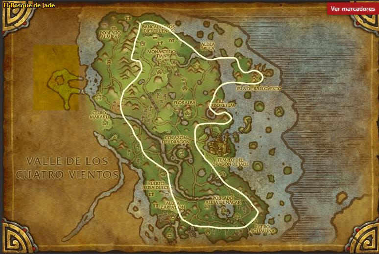 El Bosque de Jade-Mena de Hierro Fantasma map
