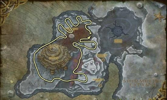 Vashj'ir Obsidium Mining map