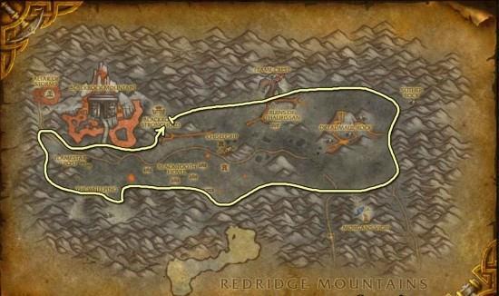 Burning Steppes mining map
