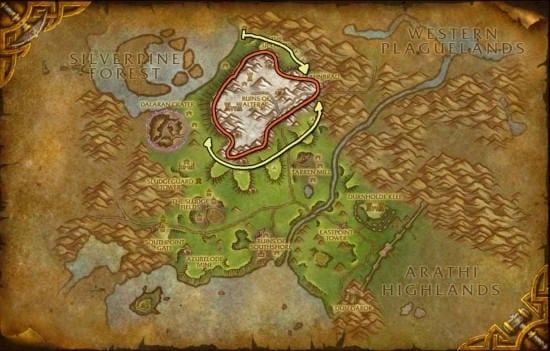 Hillsbard Foothills mining map