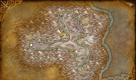 Winterspring mining map