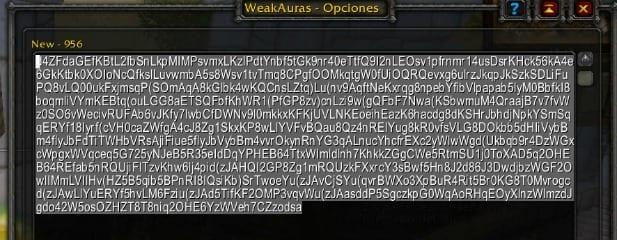 WeakAuras2 Exportar