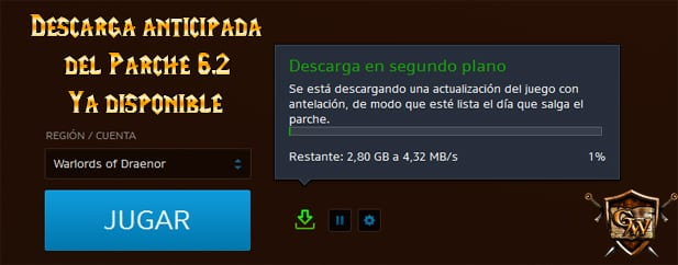 Parche 6.2 descarga anticipada