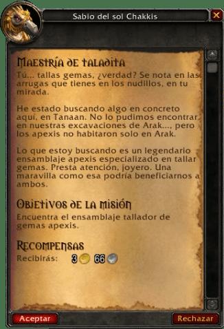 Maestría de taladita Gemas épicas 6.2
