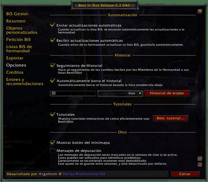 BestInSlot Opciones 2