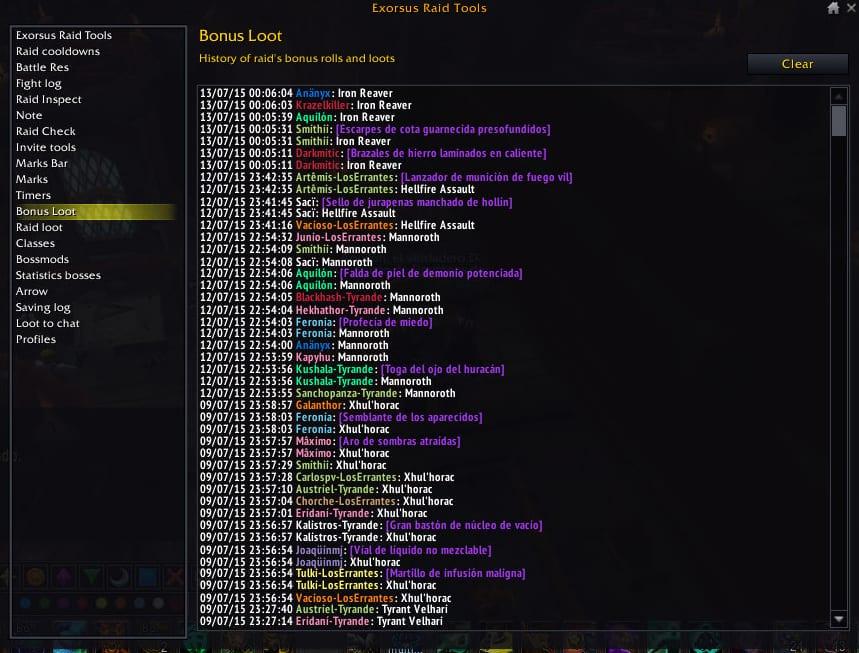 exorsus bonus loot