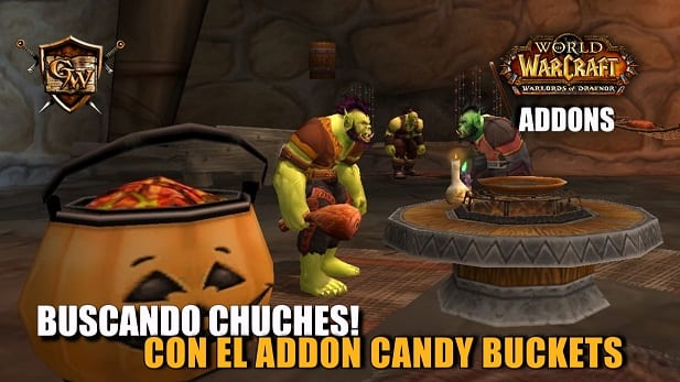 Buscando chuches! con el addon Candy buckets