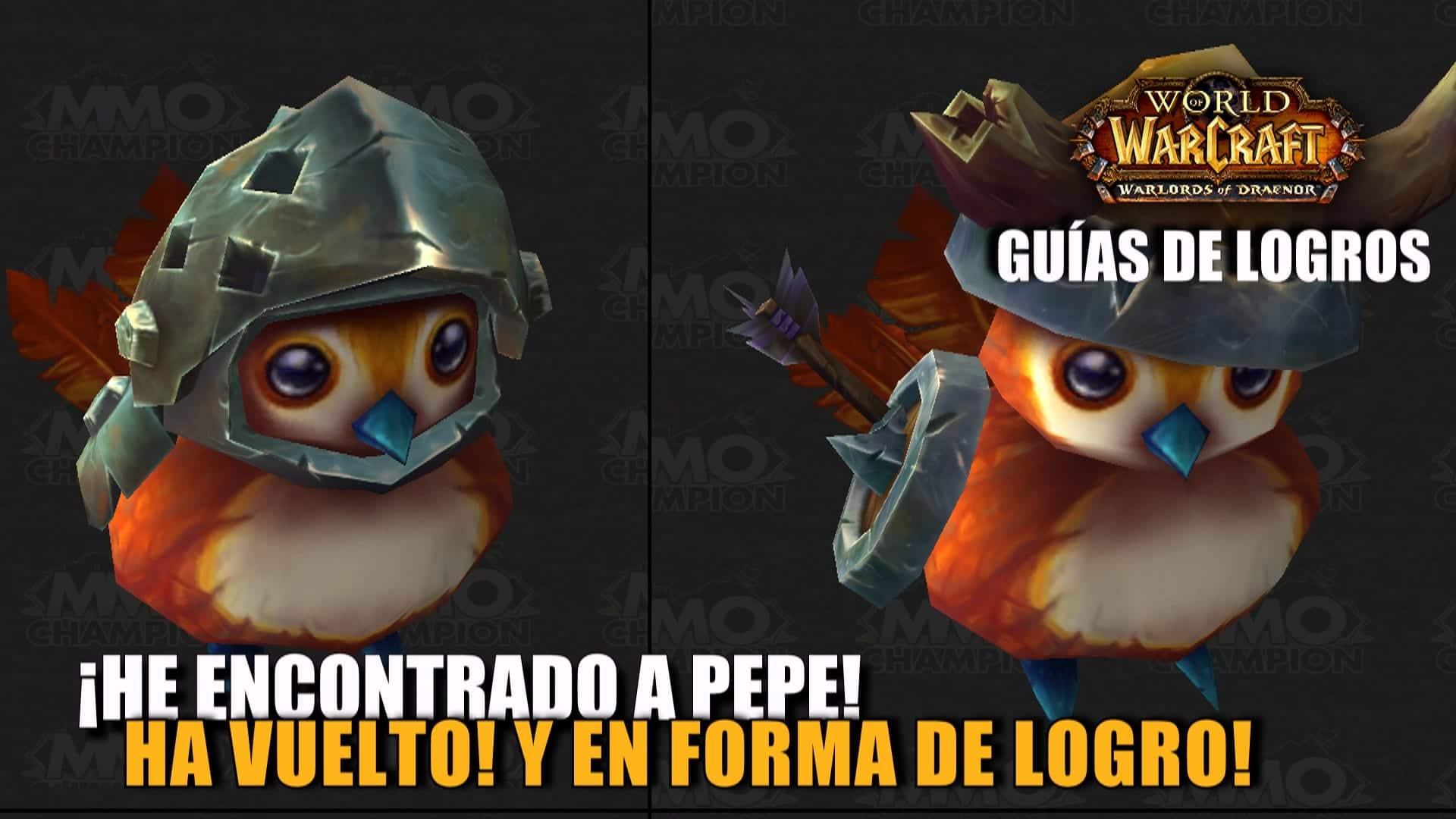 ¡He encontrado a Pepe! Ha vuelto! Y en forma de logro!