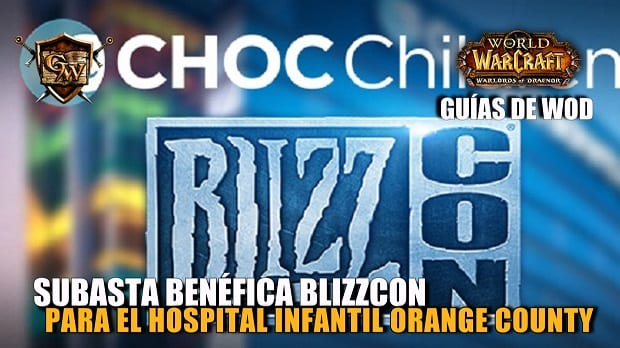 Subasta benéfica BlizzCon para el hospital infantil de Orange County