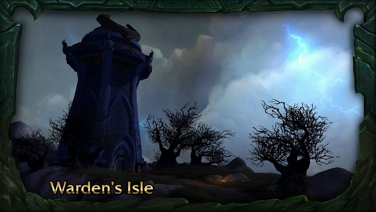 warden's isle Isla de los guardianes
