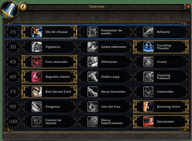 guerrero protección en legion talentos