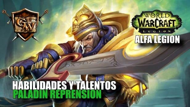 habilidades y talentos del paladín reprensión en legion