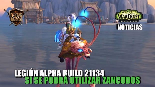 Legión Alpha Build 21134: Si se podrá utilizar zancudos