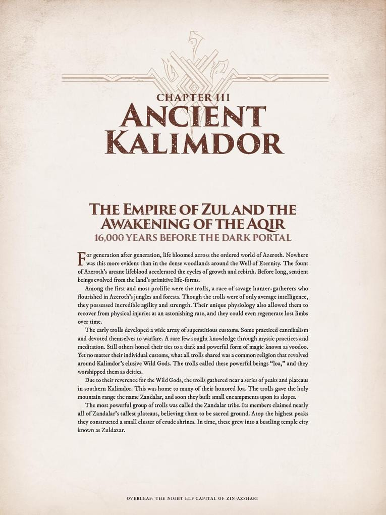 World of Warcraft Chronicle parte 1 cap 3
