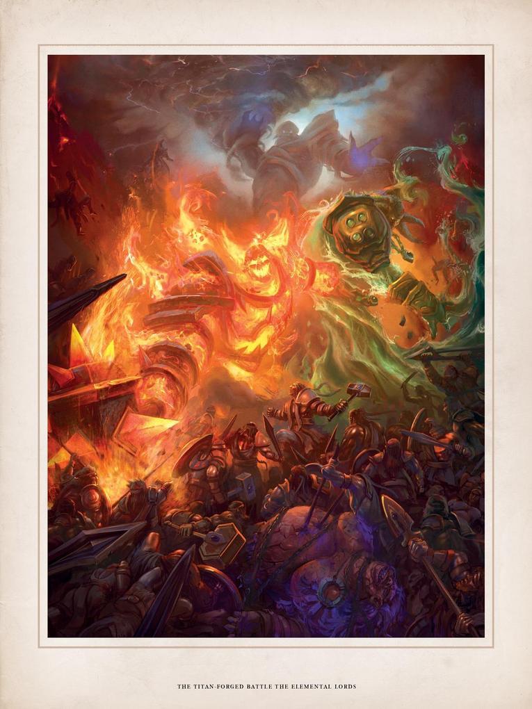World of Warcraft Chronicle parte 1 ilustracion elementales