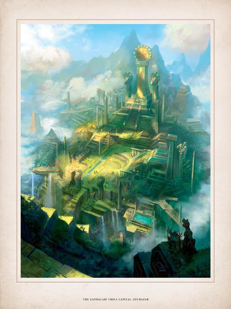 World of Warcraft Chronicle parte 1 ilustracion zandalari