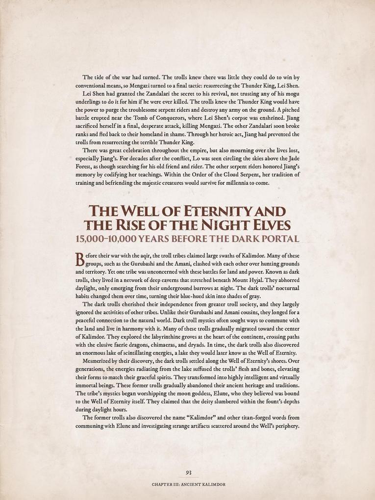World of Warcraft Chronicle parte 1 pozo de la eternidad