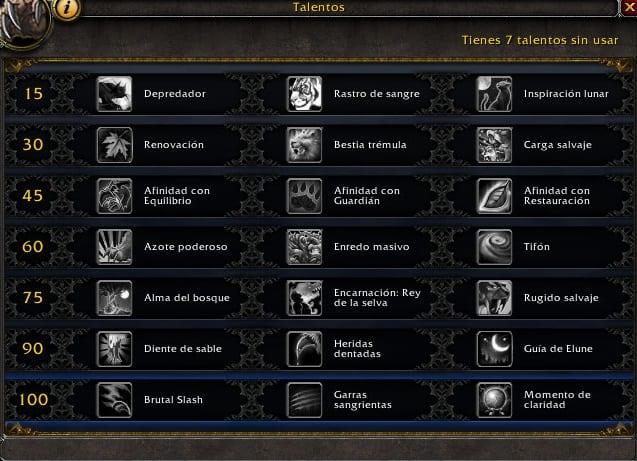Druida Guardián en Legión- Habilidades y Talentos – Alfa Legión