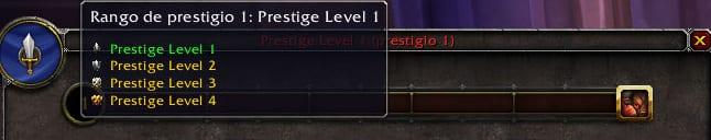 rango de prestigio JcJ en legion
