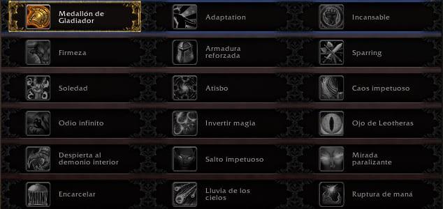 talentos jcj del cazador de demonios caos w