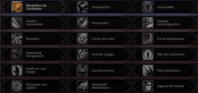 talentos jcj del cazador de demonios venganza