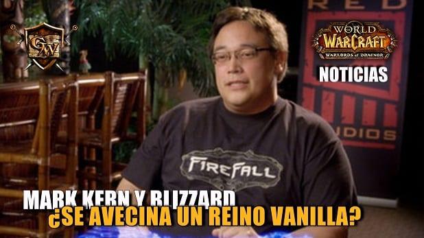 El ex líder de equipo de Blizzard Mark Kern apoya la creación de servidores Vanilla