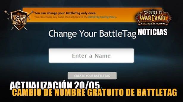 Cambio de nombre gratuito de BattleTag 20/05