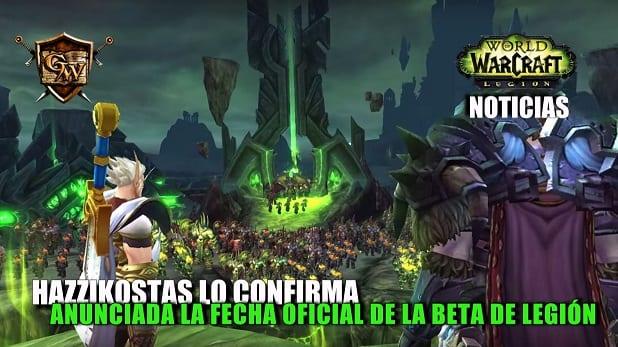 Anunciada la fecha de la beta de Legión