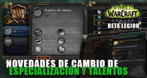 cambio de especialización y talentos en legion