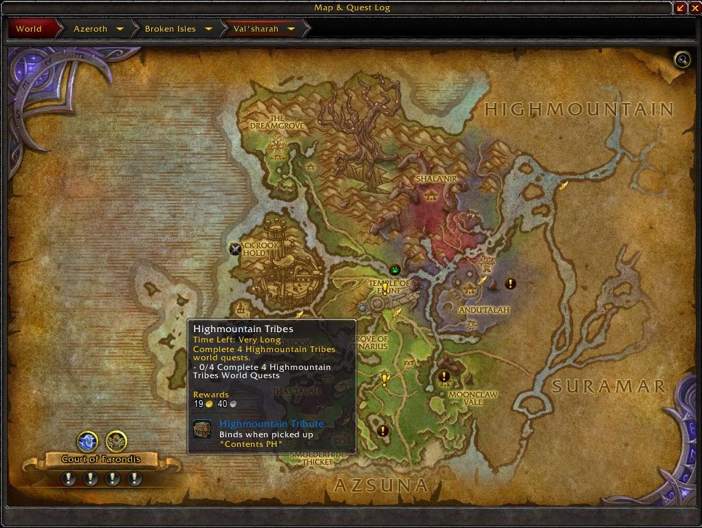 misiones de mundo notas de parche beta de legion