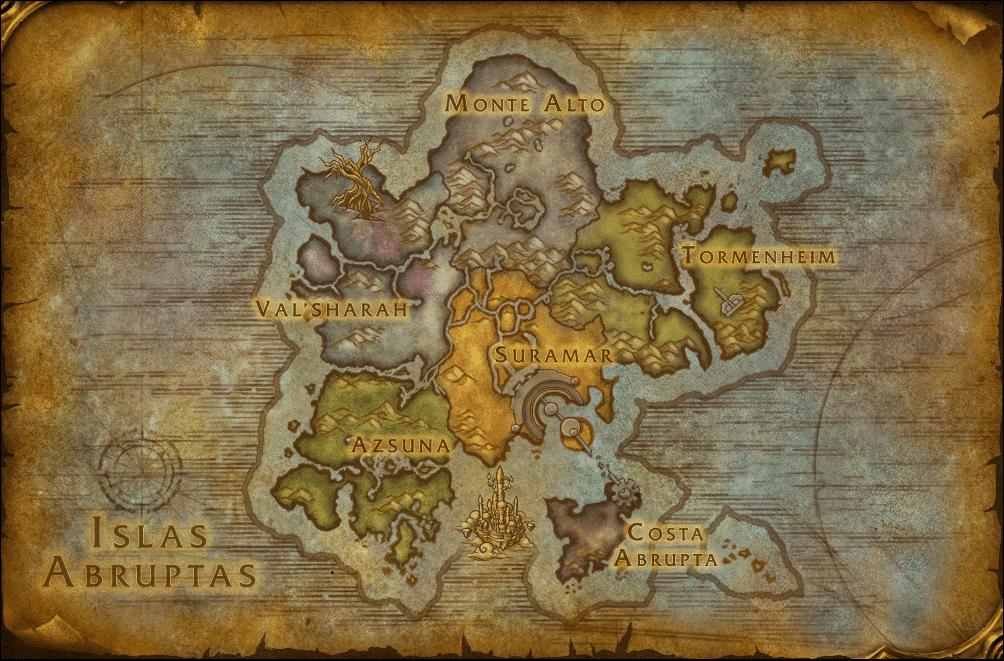 notas de parche beta de legion islas abruptas