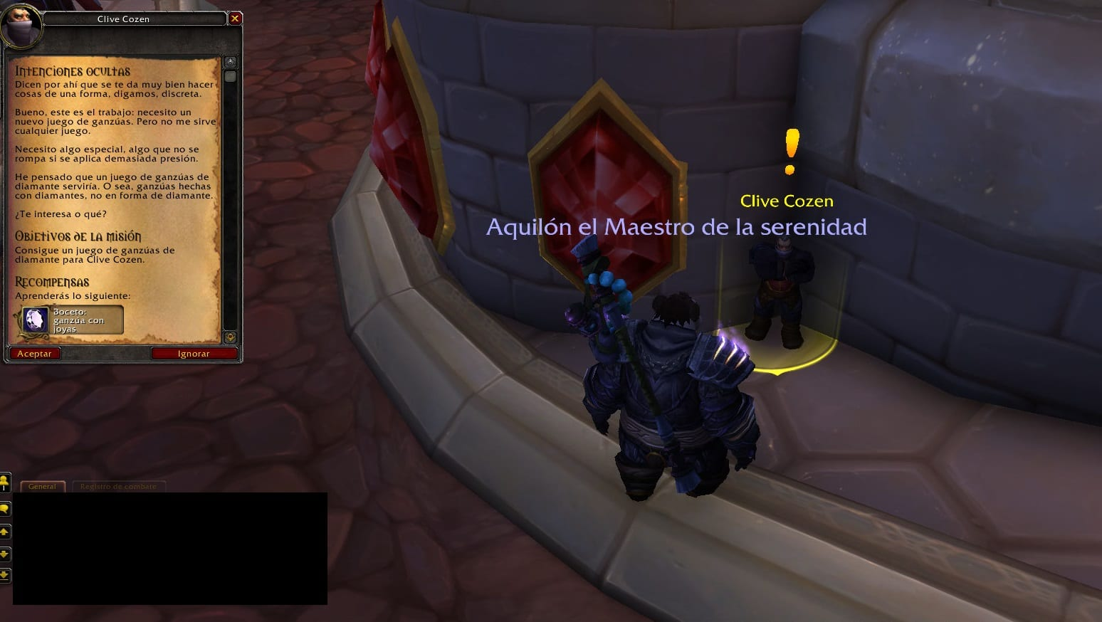 Intenciones ocultas misiones de joyería de legion