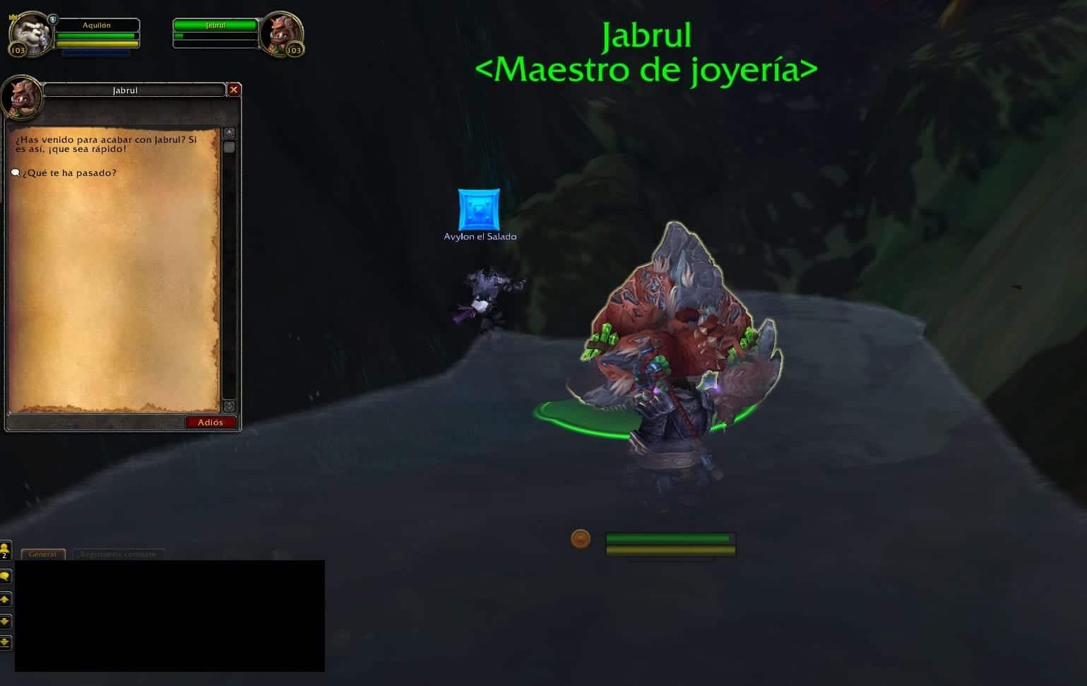 Jabrul herido misiones de joyería en legion