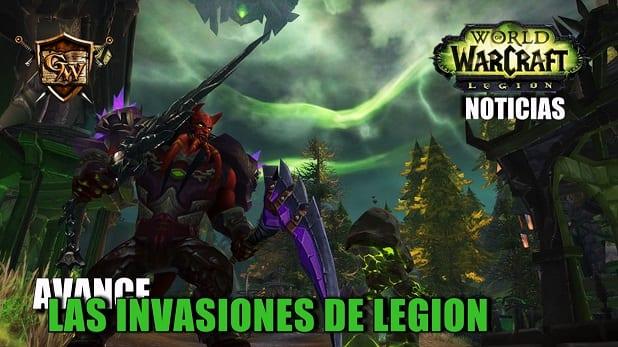 Avance sobre las próximas invasiones en el pre-parchede Legion