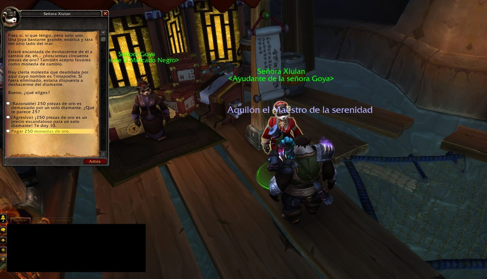 señora xiulan misiones de joyería de legion