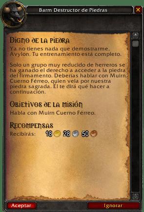 digno de la piedra misiones de herrería en legion