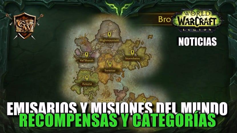 Misiones de mundo y Emisarios: Recompensas y categorías