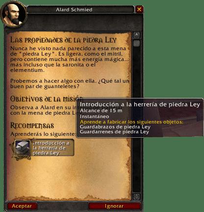 las propiedades de la piedra ley misiones de herrería en legion