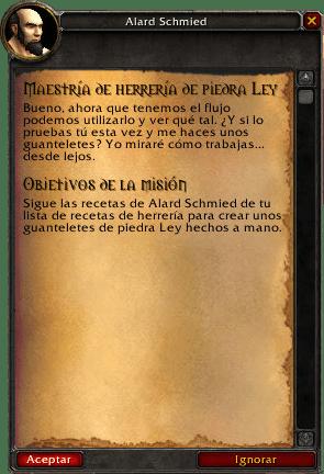 maestría de herrería de piedra ley misiones de herrería en legion