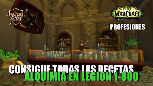 Guía de Alquimia en Legion - Consigue todas las recetas