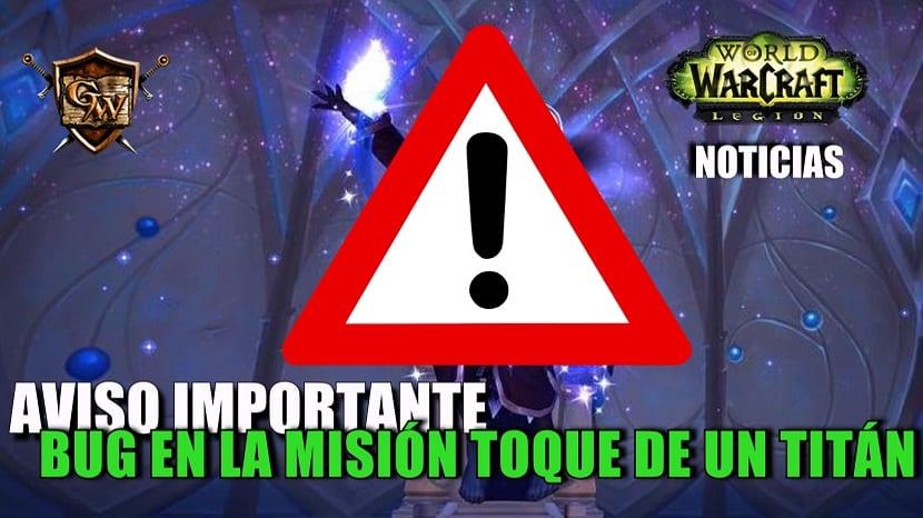 Aviso importante sobre la misión
