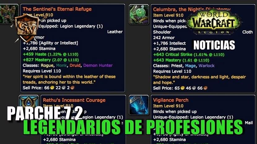 Legendarios de profesiones - Parche 7.2