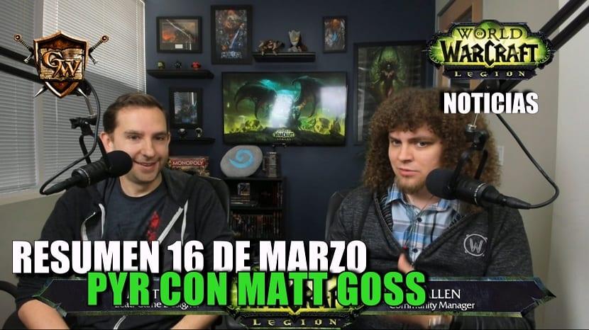 Resumen PyR con Matt Goss - 16 de marzo