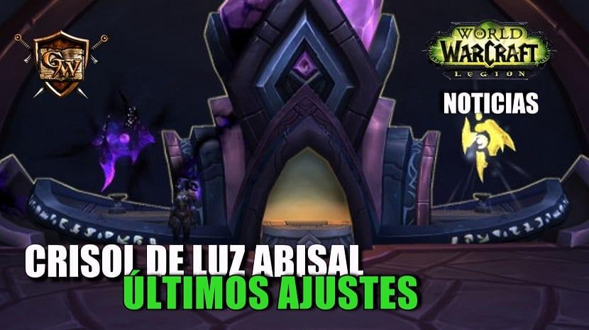 Ajustes finales del Crisol de Luz Abisal