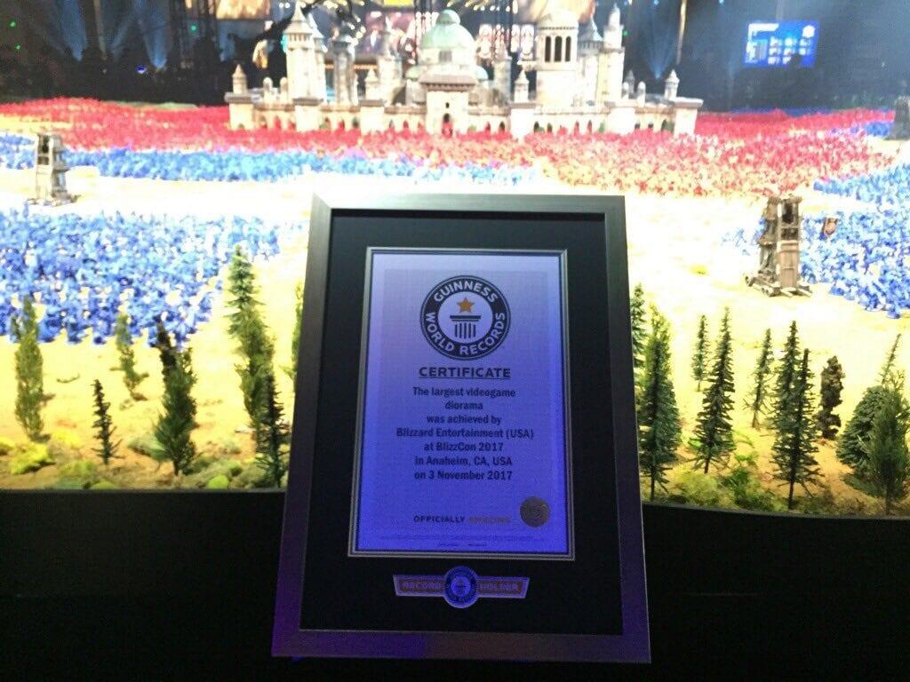 Blizzard consigue el récord Guinness al mayor diorama de videojuegos